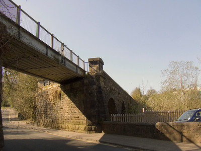 The Gryffe Viaduct just to the west of Bridge Of Weir station, looking towards Kilmacolm