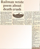 Article from the Greenock Telegraph from about the Inchgreen rail crash of 1900, recounting a poem that was written about it.