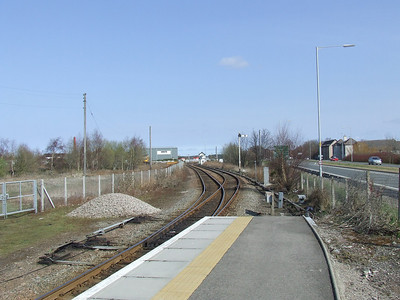 Looking East from the Keith end at Forres Station towards Forres SB. The Aviemore and Perth line ran off to the right at the platform end, the platform for this now incorporated into the station car park