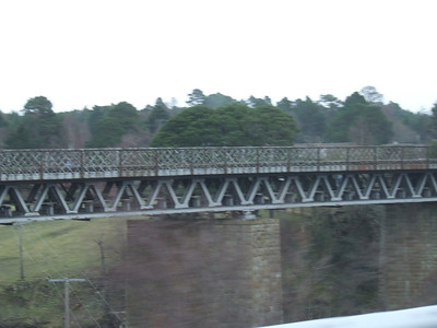 Findhorn Viaduct on the Inverness & Aviemore Direct Railway. Girder detail.