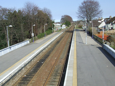 Looking East from the foot bridge at Nairn Station