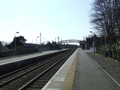 Nairn Station looking West towards Inverness