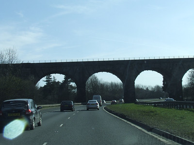 Castlecary Viaduct on the Edinburgh & Glasgow Railway. Taken from the A80
