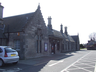 Nairn Station, as seen from the car pak