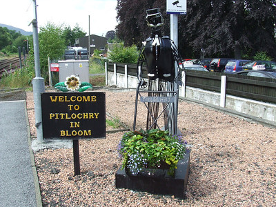 Pitlochry Station. Pitlochry in bloom