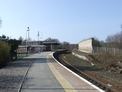 Looking West from the Keith end at Forres Station. The Aviemore and Perth line ran off to the  left from the spot the photo was taken from