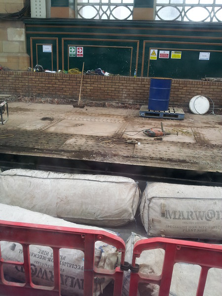 Platform 15 during renewal works. This is the first time that the platform would have been taken down to bare metal for many years.