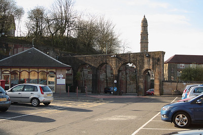 All that remains of the original station building, the arches at the station entrance