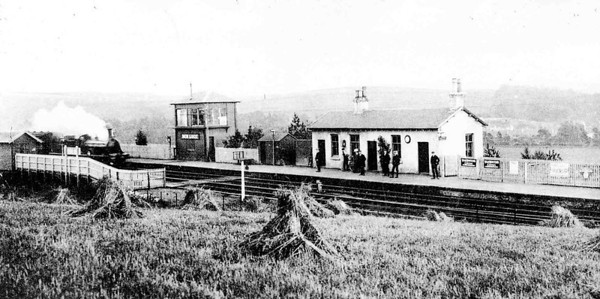 New Luce Station. Opened in 1877, the station was part of the Girvan & Portpatrick Railway which ran from Girvan to Challoch Junction to join the Portpatrick Railway. The line was beset by financial problems and the engines of the Girvan & Portpatrick were banned by the Portpatrick Railway in 1882 - 1883 and the line closed temporarily during this time. The line was closed again for two months in 1886 and was absorded by the Ayr & Wigtownshire Railway in 1887 when the line was re-financed by them. The line was bought by the Glasgow & South Western Ralway in 1892. The line is used for passenger services to Stranraer and until the early 1990's a lot of freight used the line also. The passenger services to Stranraer are infrequent and no longer meet the ferry which moved to Cairnryan. New Luce closed in 1965 and the station was demolished in 1971.