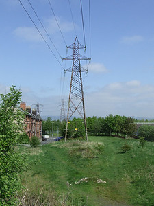 Looking over the site of Ferguslie Station, as seen from the trackbed of the Paisley Canal Line