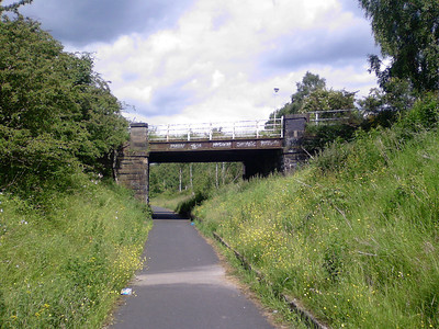 On the Paisley Canal line in Paisley, now a cycle path.