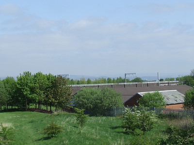 The embankment at Ferguslie in Paisley as seen from the site of Ferguslie Station