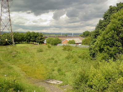 Site of Ferguslie Station, looking from the Paisley Canal Line