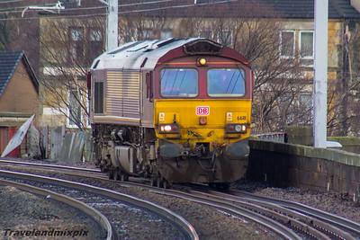 66111 DBS (EWS livery) Paisley Gilmour Street 18/02/2016