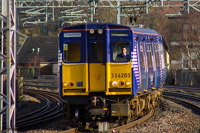 314203 Scotrail Paisley Gilmour Street 18/02/2016