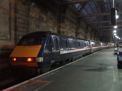 91117 at P1 to form the NXEC service to London Kings Cross
