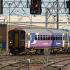 153359 arriving at Carlisle at the front of a Class 158 with a service from Leeds