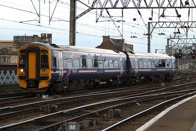158733 arriving at Glasgow Central on a working from Whifflet