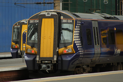 380004 at P13 waiting it's next turn of duty. 380020 stands at P14