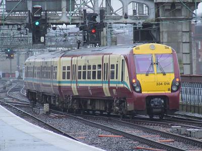 334014 departs from Platform 13