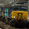 57306 <i>Her Majesty's Railway Inspectorate 175</i>, 57301 <i>Goliath</i><br> DRS<br> Paisley Gilmour Street<br> 28/04/2016<br>