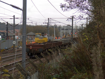 General view of the replacement work taking place at Elderslie