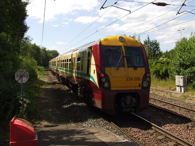 334008 departing Johnstone on a service for Largs