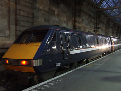 91101 at P1 to form a service to London Kings Cross with it's new NXEC branding