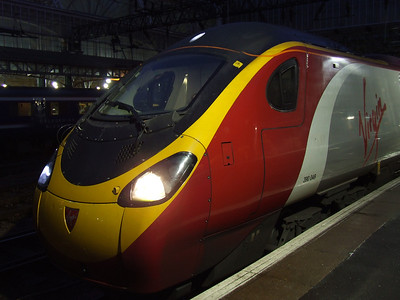 390049 Virgin Express at P2 waiting to depart on a London Euston working