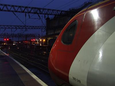 390049 Virgin Express at P2 awaiting signals