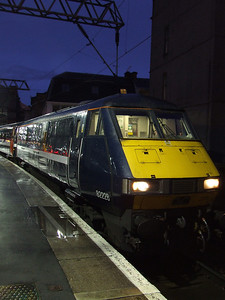 DVT 82228 at the head of a service waiting to depart to London Kings Cross in it's new NXEC branding