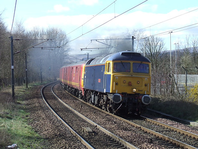 47848 Titian Star passing through Johnstone on a GBRf driver training run from Ayr to Glasgow