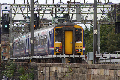 156496 at Bridge Street Junction on a Glasgow Central service