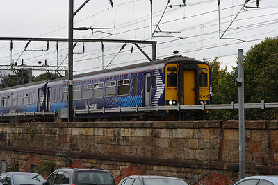 156430 at Bridge Street Junction on a service for East Kilbride