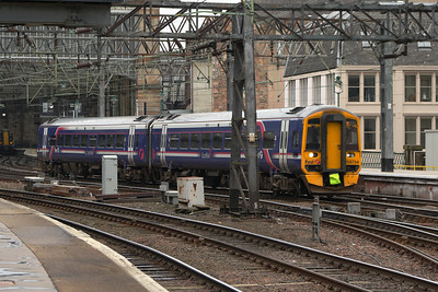 158734 departing Glasgow Central