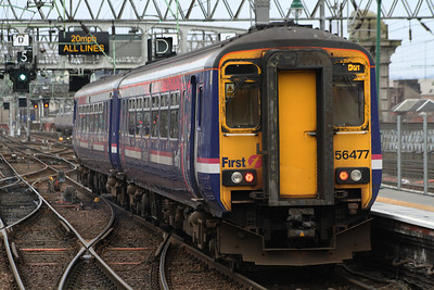 156477 departing P11 of Glasgow Central on a service to Barrhead