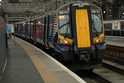 380111 at Platform 10 of Glasgow Central