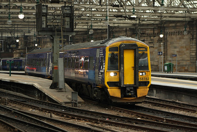158782 departing on a service to Edinburgh Waverley