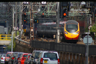 Class 390 Pendolino Bridge Street Junction Glasgow 07/07/2014