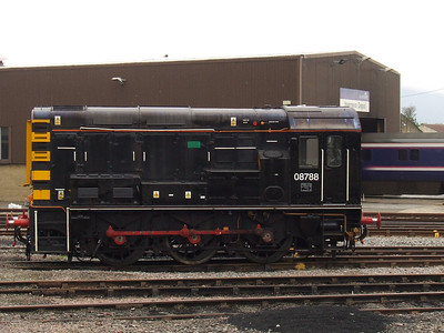 08788 at Inverness Depot. It is used by ScotRail and owned by British American Railway Services and used as the yard shunter at Inverness