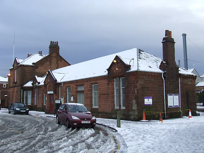 Johnstone Station after a heavy snowfall