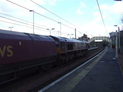 66050 passing through Johnstone en route to Longannet PS