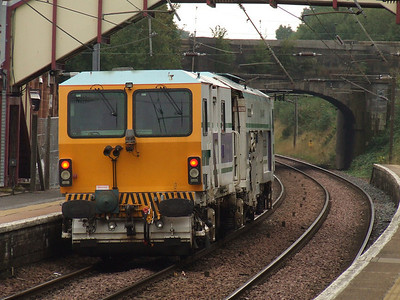 First Engineering Plasser & Theurer Unimat 08-4x4/4S RT tamper DR 73914 Robert McAlpine passing west through Johnstone