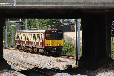 314206 drawing into Cardonald Station on a Glasgow Central service