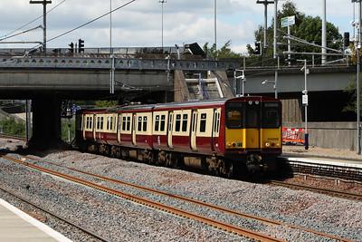 314206 at Cardonald Station on a Glasgow Central service