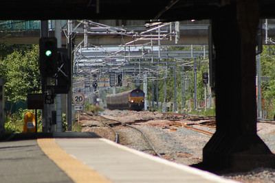 66185 on service 6G07 Hunterston to Longannet PS about to cross Cardonald Junction