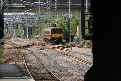 318256 on approach to Cardonald station about to cross Cardonald Junction