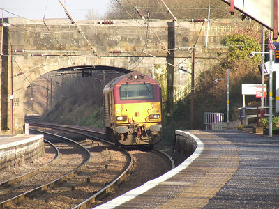 67004 Post Haste passing through Johnstone light engine headed to Dalry to collect empty China Clay tanks from Irvine Paper Mill