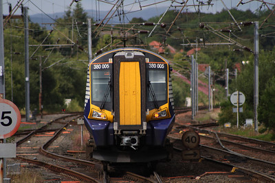 380005 departing Kilwinning for Glasgow Central