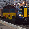 66192<br /> DBS (EWS livery)<br /> 380015<br /> Scotrail<br /> Paisley Gilmour Street<br /> 21/01/2016